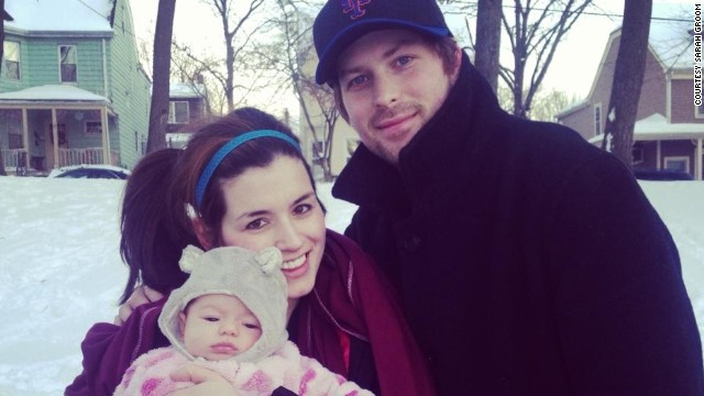 Sarah Groom and Adam Sommer, pictured with daughter, have lived together for nearly eight years without getting married.