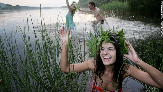 In many parts of the world there is no better time to work on your mojo than on the longest day of the year. In Belarus girls and boys take the opportunity to celebrate the midnight sun on Ivan Kupala Day by bathing in lakes.