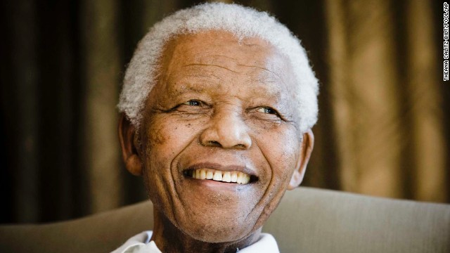 Revolutionary and politician Nelson Mandela