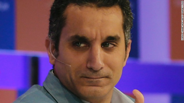 File: Egyptian satirist and television host Bassem Youssef, pictured here in 2013, announced on Monday his political satirical show will no longer air on Egyptian TV.