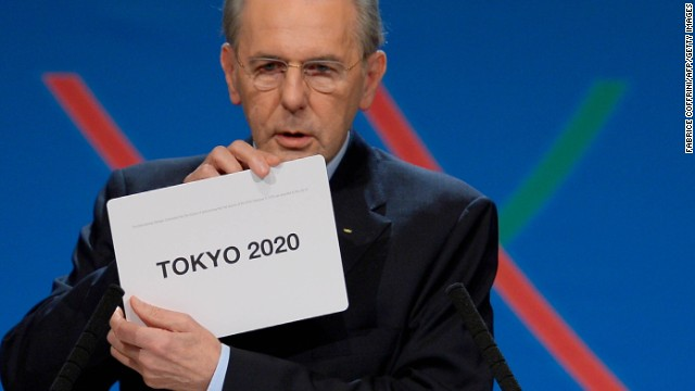 IOC president Jacques Rogge announces the winner of the bid to host the 2020 Summer Olympic Games, following Saturday's vote in Buenos Aires.