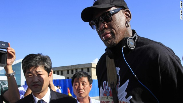 Dennis Rodman\'s trip to North Korea