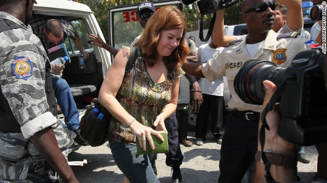 Laura Silsby, the head of New Life Children's Refuge, arrives for a Port-au-Prince court hearing in February 2010 in Haiti.