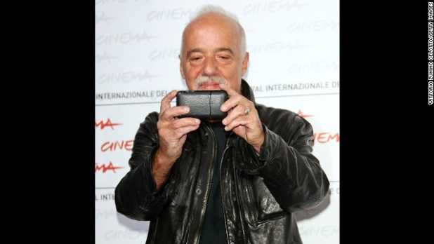 "<strong>Author:</strong> Paulo Coelho (<a href='https://twitter.com/paulocoelho' target='_blank'>@paulocoelho</a>) has 8.7 million followers. His bio reads: ""Writer."""