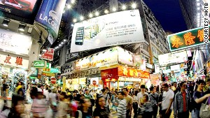 In Hong Kong, shopping doesn\'t really start until the evening.