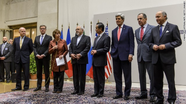 Foreign Ministers announce agreement on Iranian nuclear weapons development, November 23, 2013