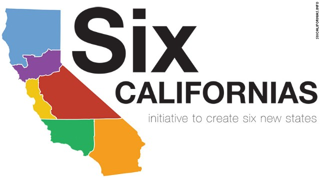 An effort being pushed by a big tech investor would divide California into six states. None, sadly, would be named