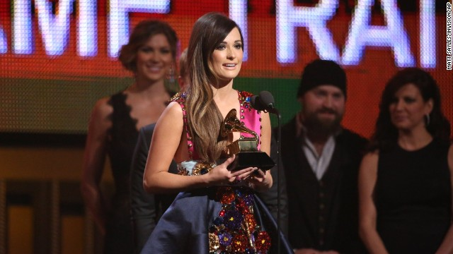 "<strong>Best country album: </strong>""Same Trailer Different Park"" by Kacey Musgraves. She also won best country song for ""Merry Go 'Round."""