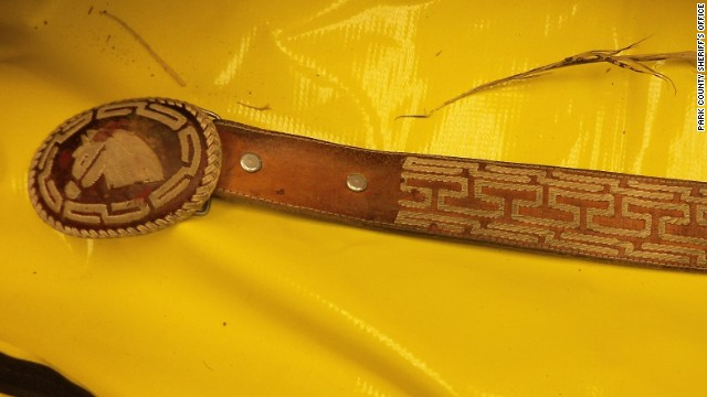 The Park County Sheriff's Office in Cody, Wyoming, released a photo of a belt that was on a man whose decapitated body was found.