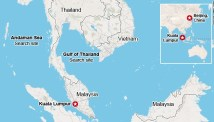 Flight 370: Areas being searched