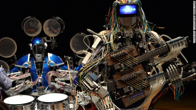 Image result for robot musicians