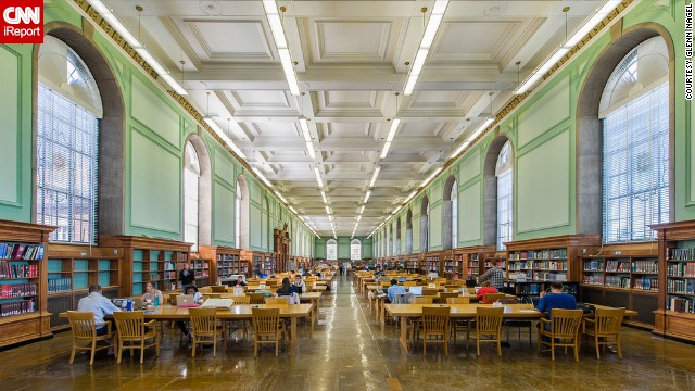 In honor of National Library Week, CNN iReport asked photographers, architecture aficionados and book lovers to share photos of their most favorite libraries such as this photograph of the<a href='http://www.library.illinois.edu' target='_blank'> University Library</a> at the University of Illinois at Urbana-Champaign by <a href='http://ireport.cnn.com/people/gnagel'>Glenn Nagel</a>. The library was founded in 1867 and actually predates the university. Today, the University Library holds more than 13 million volumes and is known for allowing all members of the community to view its collection onsite.