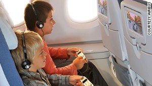 The in-flight entertainment system is your best friend on a flight.