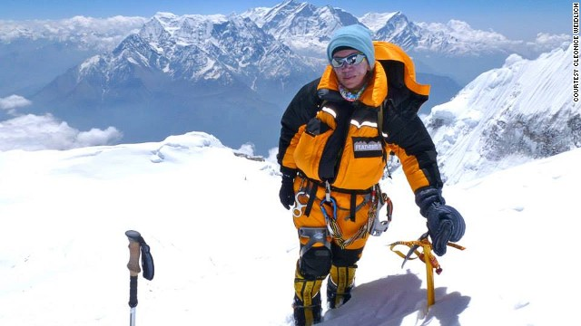 """Cleonice Pacheco Weidlich, 50, was one of two climbers who decided not to leave Everest after a fatal avalanche in April. Weidlich eventually abandoned her summit attempt however, having used a helicopter to bypass the treacherous Khumbu Icefall, saying """"I would only have climbed half of it."""""""