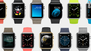 The new Apple Watch comes in a variety of styles and two sizes.