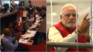 India\'s space agency and Prime Minister Narendra Modi cheer the Mars mission.
