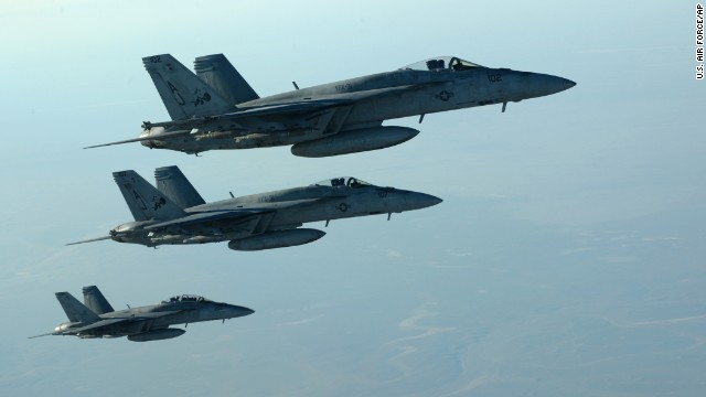U.S., Arab nations attack ISIS in Syria