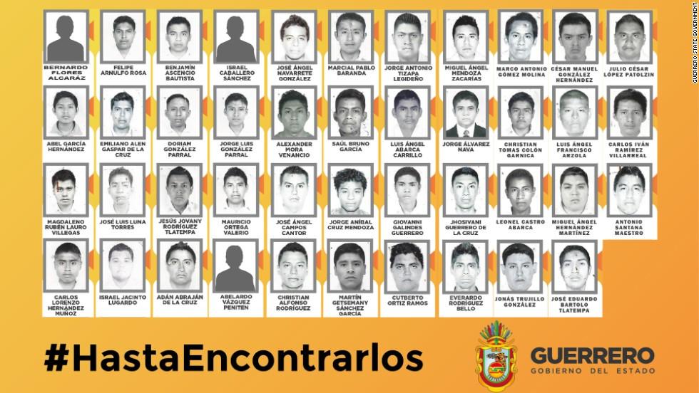 Resultado de imagen para 43 estudiantes de ayotzinapa