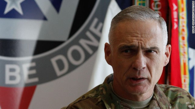 File photo: General James Terry speaks at a news conference in 2012.