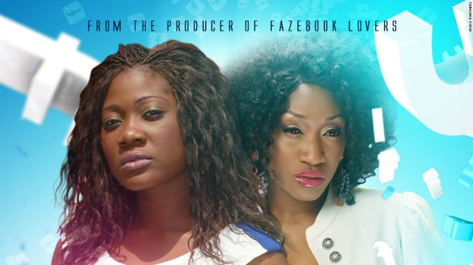 """A poster from the popular Nollywood movie """"Fazebook Babes"""""""