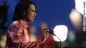 """Former U.S. Secretary of State Condoleezza Rice in 2012. She has recently recorded """"Amazing Grace"""" with violinist Jenny Oates Baker."""