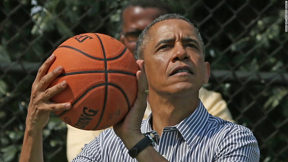 President Barack Obama revealed his Final Four picks: Texas A&M, Michigan State, Kentucky and Kansas.