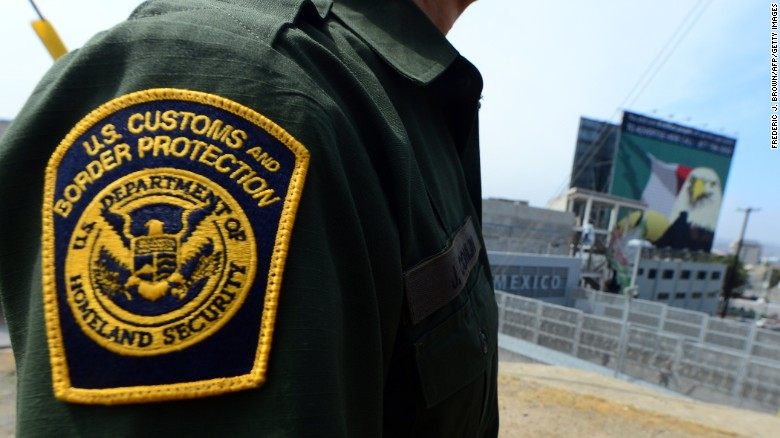 An agent stands near a crossing into Mexico at the San Ysidro port of entry in San Diego, California.