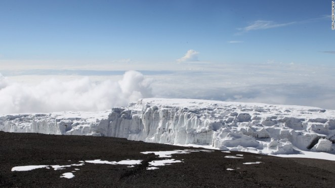No, it's not the Alps. It's Mt. Kilimanjaro, in Tanzania.