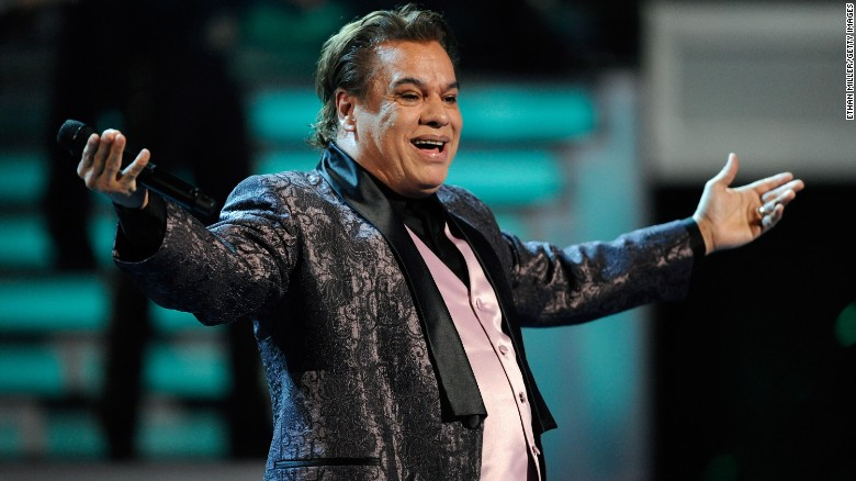 Singer Juan Gabriel performs during the 10th Annual Latin Grammy Awards in 2009 in Las Vegas, Nevada.