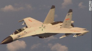 An armed Chinese fighter jet conducted