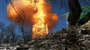 Shelling hits pipeline in Ukraine