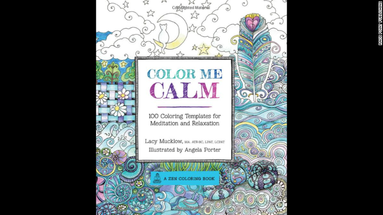 """Art therapist Lacy Mucklow and illustrator Angela Porter's """"<a href=""""http://www.amazon.com/Color-Calm-Templates-Meditation-Relaxation/dp/1937994775/ref=pd_sim_b_5?ie=UTF8&refRID=19QC6G0F0HP6PKPHNWFB"""" target=""""_blank"""">Color Me Calm</a>"""" and """"<a href=""""http://www.amazon.com/Color-Me-Happy-Coloring-Templates/dp/1937994767/ref=pd_sim_b_6?ie=UTF8&refRID=1VZQK337H0GCD3DP05HX"""" target=""""_blank"""">Color Me Happy</a>"""" are popular titles. They're working on  """"Color Me Stress-Free,"""" to be released in September."""