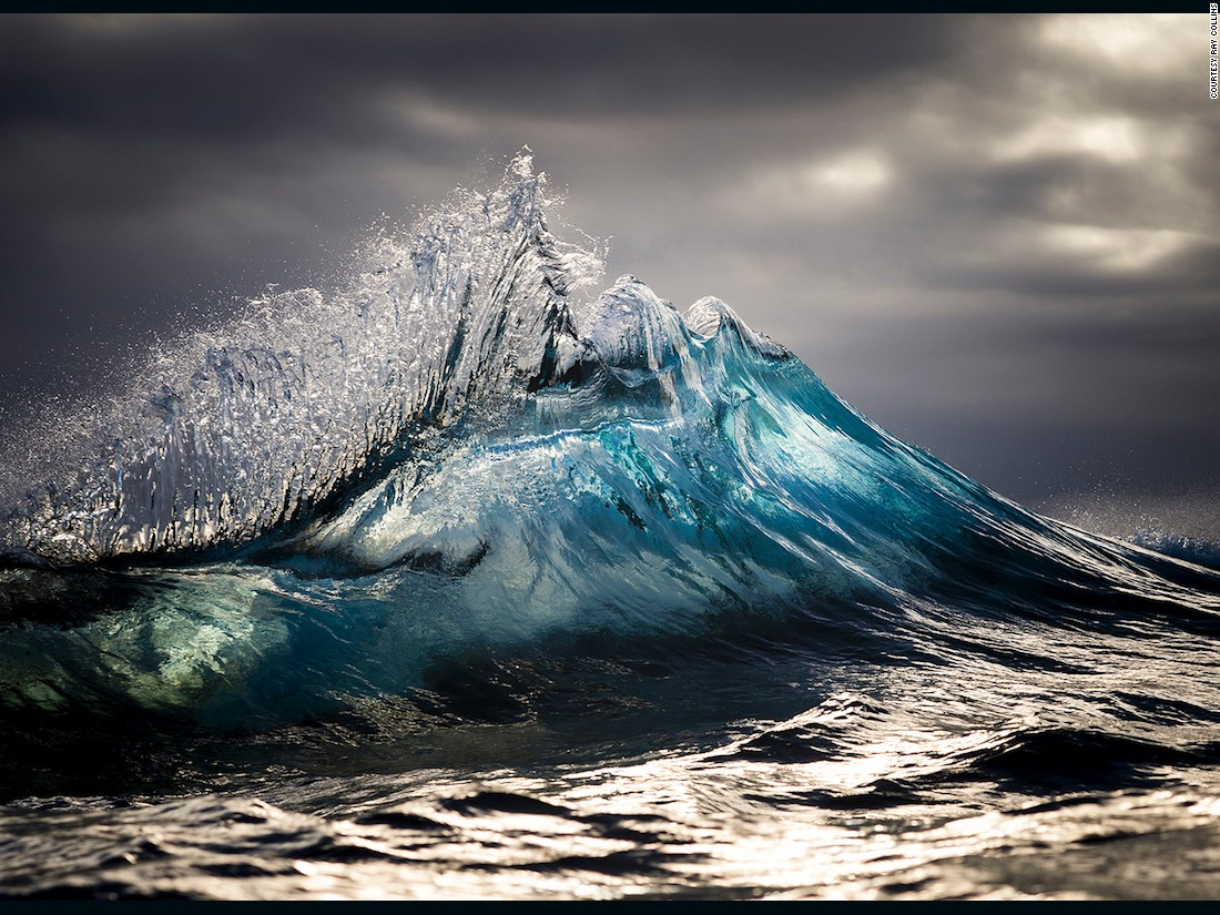 Photographer Turns Waves Into Mesmerizing Water Mountains