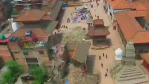 Drone video shows Nepal earthquake disaster