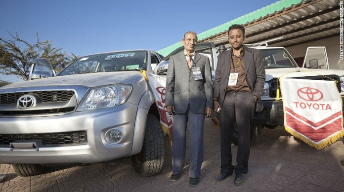 Toyota importers for Somaliland at the Hargeisa International Trade Fair.