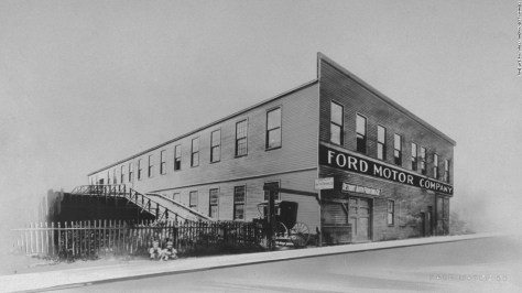 Ford's first factory was at the corner of Mack Avenue and Bellevue Street in Detroit, just northeast of downtown. The city, an established logging port and manufacturing center, was a natural home for the auto industry. Within a year, Ford had moved to a larger plant on Detroit's Piquette Avenue. It is now on the National Register of Historic Places.