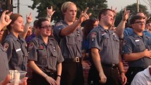 A vigil was held Wednesday for Lt. Joe Gliniewicz.