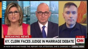 Kentucky clerk faces judge in marriage debate
