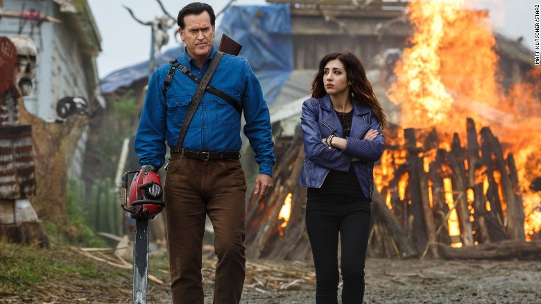 "<strong>""Ash vs. Evil Dead,"" premieres October 31, 9 p.m., Starz:</strong> Ash is back, as fans of the ""Evil Dead"" movies get to see Bruce Campbell once again kick undead butt."