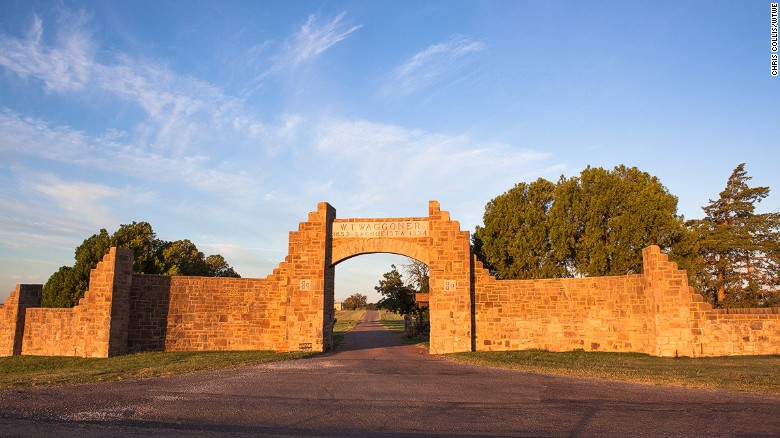 The entrance to Waggoner Ranch, which remains on the market for just a few more days priced at $725 million.