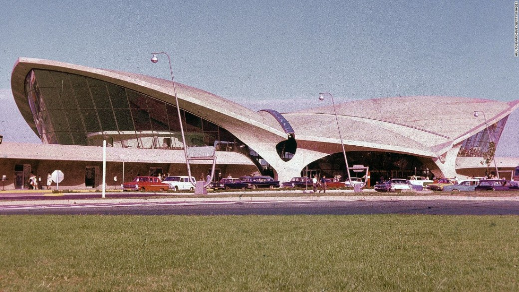 Eero Saarinen's TWA Flight Center, Opened 1962.