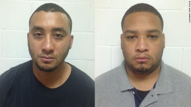 Officers Norris Greenhouse Jr., left, and Derrick Stafford are charged with second-degree murder.