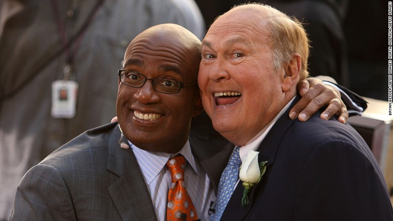 "Willard Scott, right, with his ""Today"" successor Al Roker in 2009."