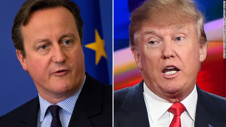 Cameron: 'Trump would unite us all against him'