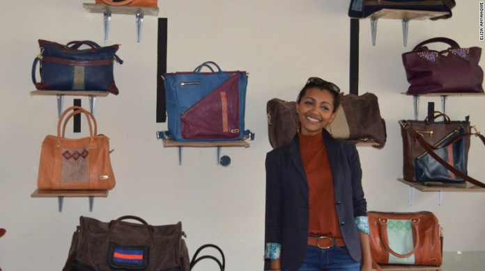 Abai Shculze, founder of Ethiopian accessories brand Zaaf