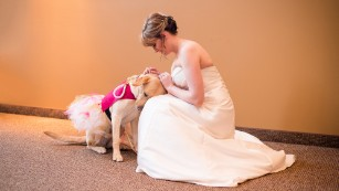 A bride and her dog: A special bond