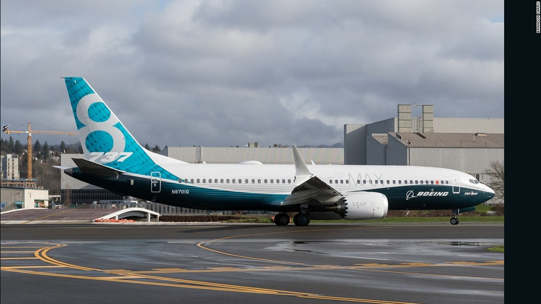 The Boeing 737 MAX made its maiden flight on Friday in Washington state. The 737 MAX, N8701Q, will eventually be delivered to Southwest Airlines.