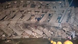 Magnitude-6.4 earthquake shocks Taiwan