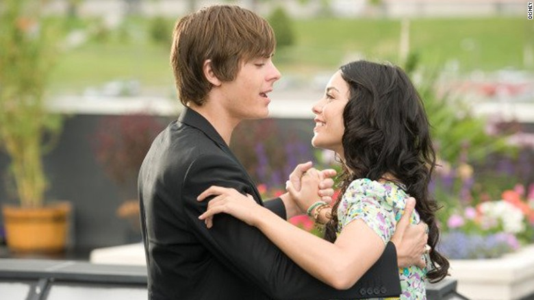 "Zac Efron and Vanessa Hudgens starred in ""High School Musical 3."""
