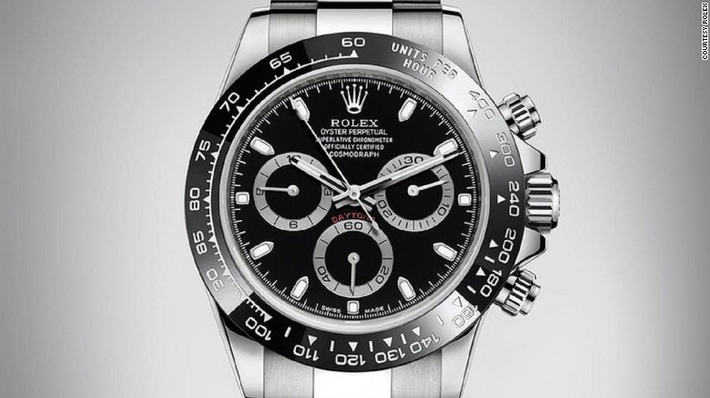 The new Daytona also comes with a black dial.